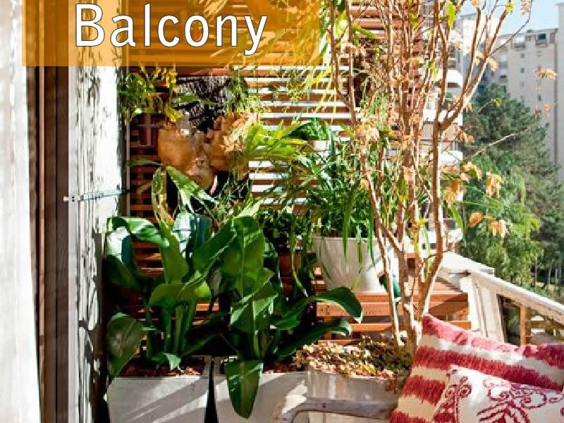 Simple ideas for the balcony